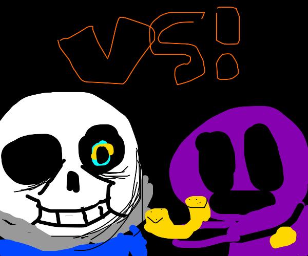 Sans VS. Purple Guy (FNAF)
