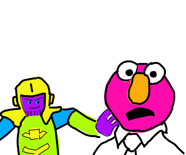 pink Elmo has been Thanos snapped