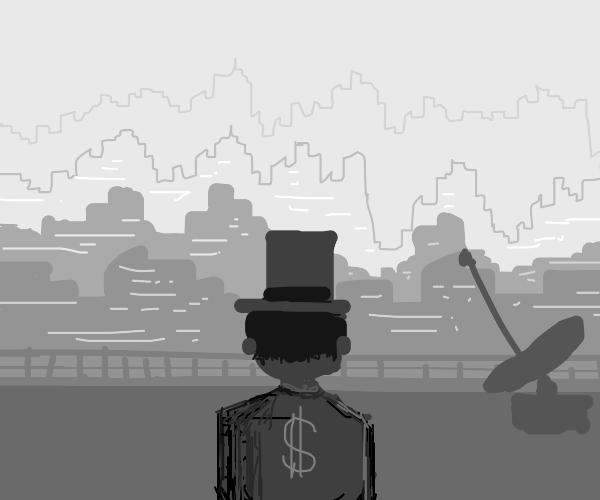 Capitalist Sir man on the city
