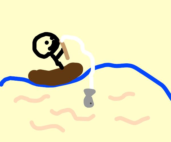 Worm fishing
