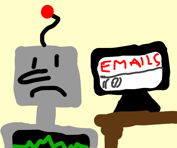 Nobody has sent the robot an email