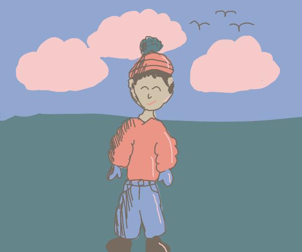 man wearing winter clothing