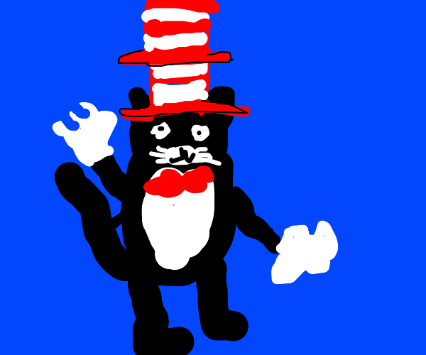 the cat in the hat with 2 hats