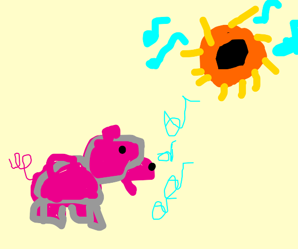 pig sings along to Black Hole Sun