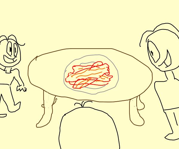 Family loves bacon