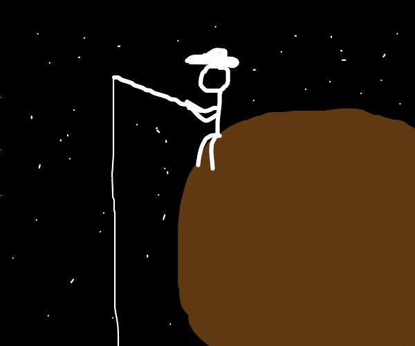 Fisherman on an Alien Planet
