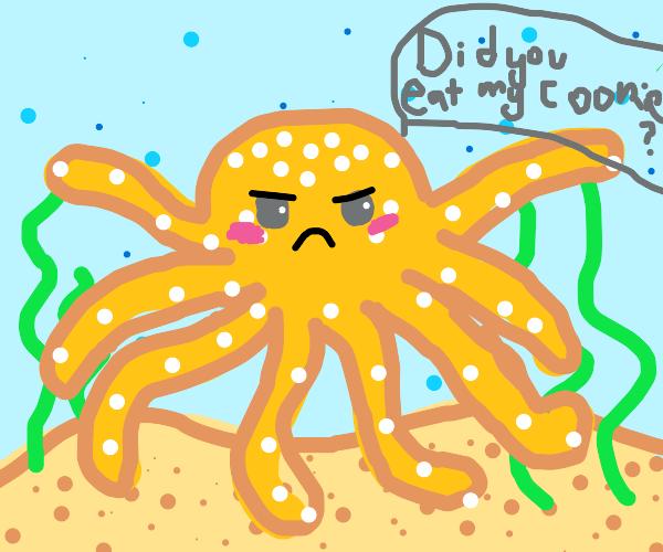 Yellow Octopus interrogates you