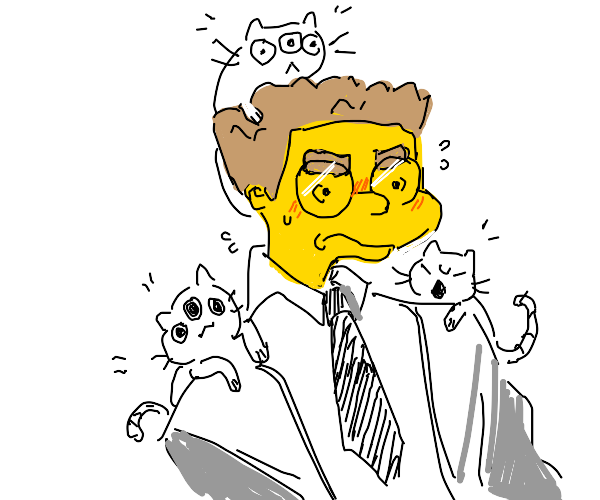 3-eyed cats and simpsons man