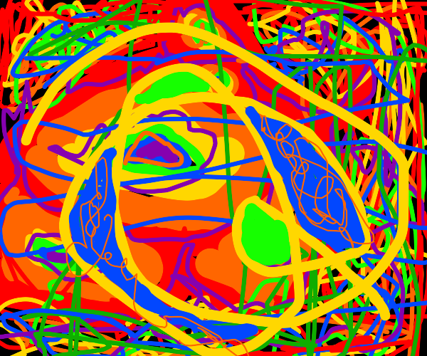 Rainbow scribbles