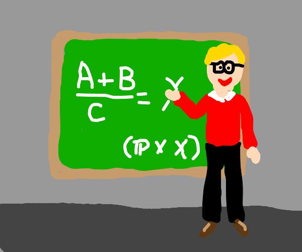 blonde guy teaches math