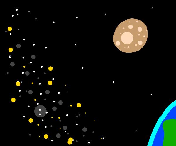 the moon is potato now.