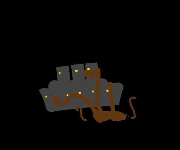 Kraken knocks on the Titanic