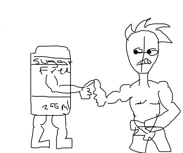 I challenge non toxic soda to a thumb wrestle