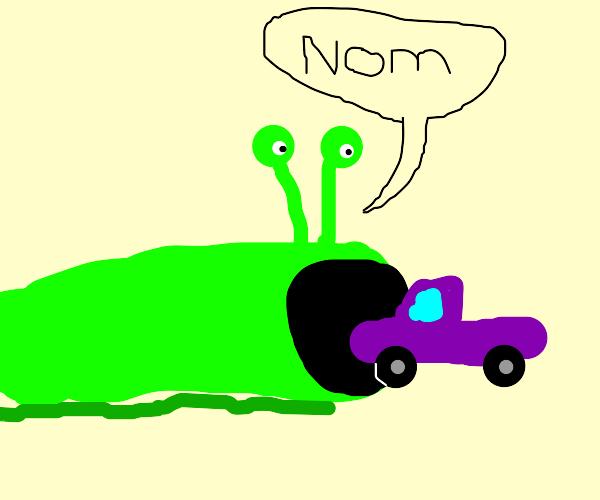 Slug eating Truck