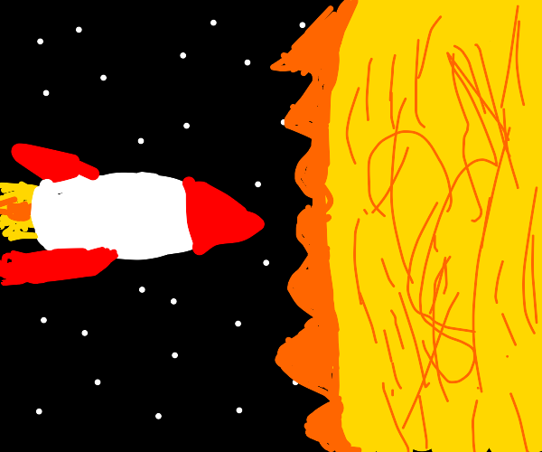 rocket approaches the sun