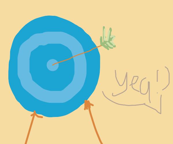 Shooting a bullseye
