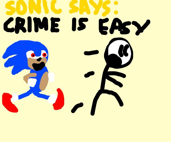 cool sonic commits crimes