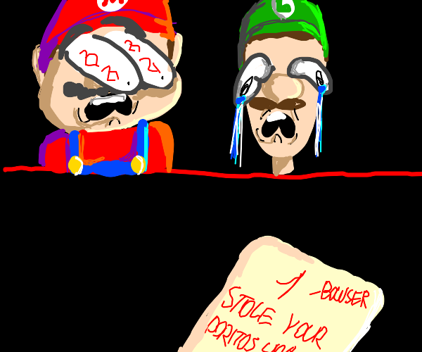 Luigi, look! It's from Bowser!