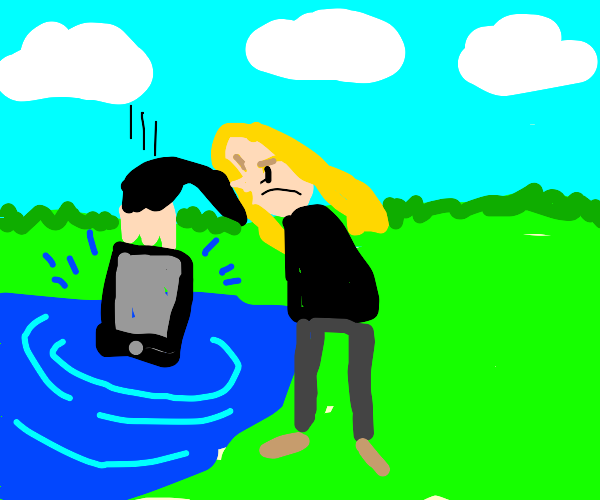 100 Gecs Dylan throws his phone into the lake
