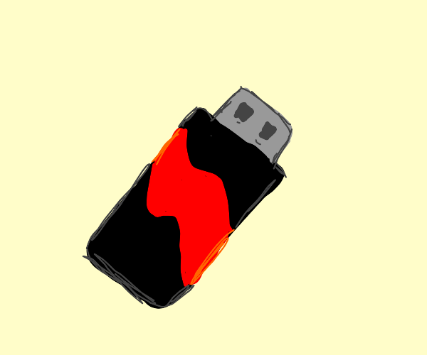 black and red USB