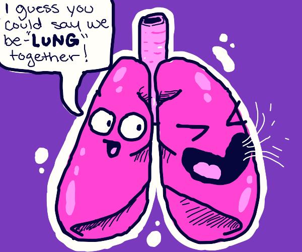 Lung makes a breathtaking joke