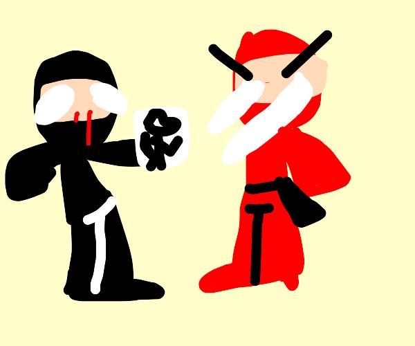black ninja finds red ninjas furry art stash