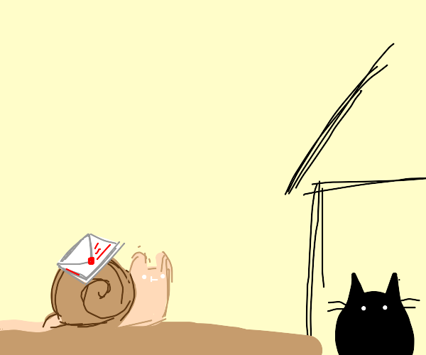snail mail to a kitty cat