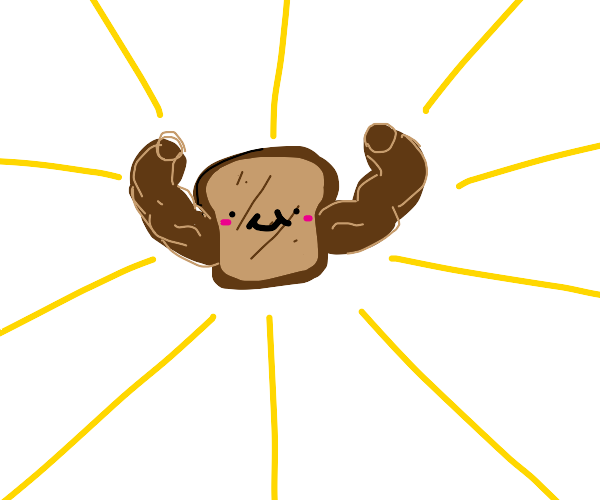 Buffed toast