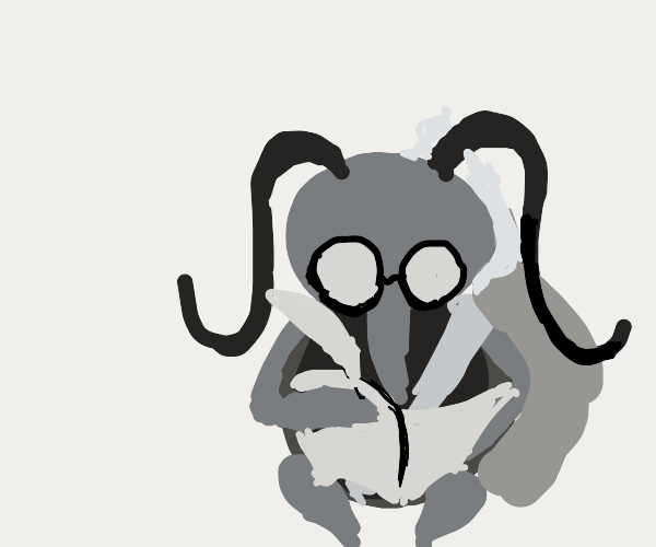 Plague doctor roach taking notes