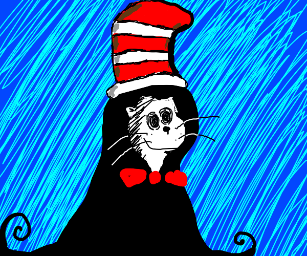 Grim Reaper Cat iN The Hat