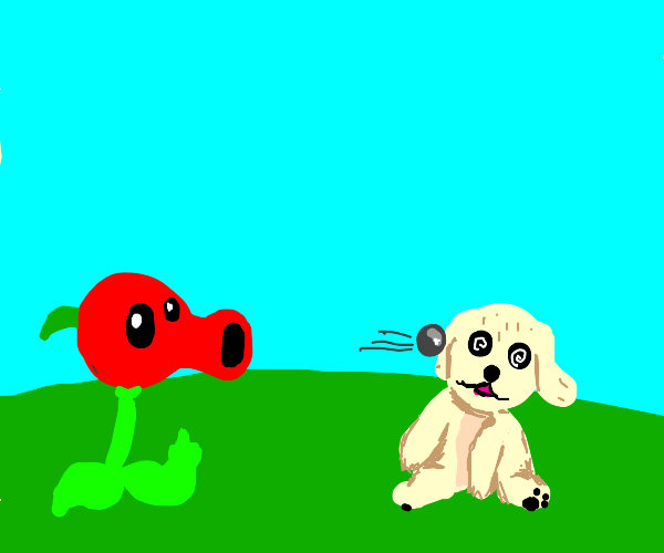 red peashooter bullies poor puppy