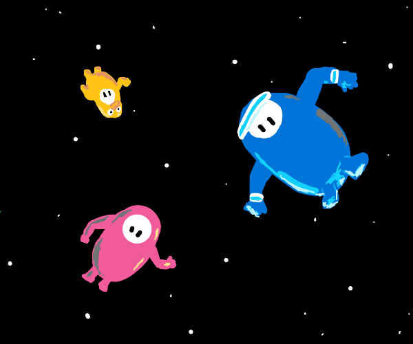 Fall Guys in space