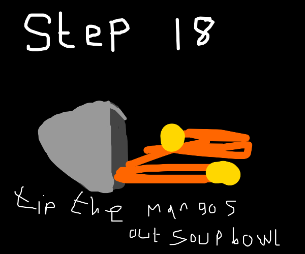 Step 17: Cook soup with mangos