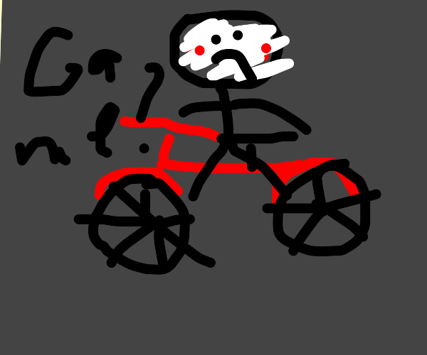 billy from saw on a bycicle