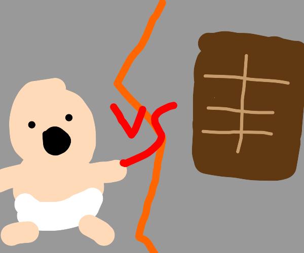 Chocolate vs baby