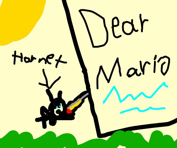 Hornet writing to Mario