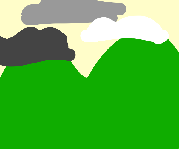 Cloudy sky over the hills