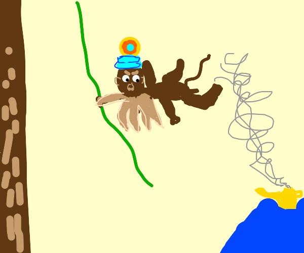 Cthulhu monkey genie is angry.