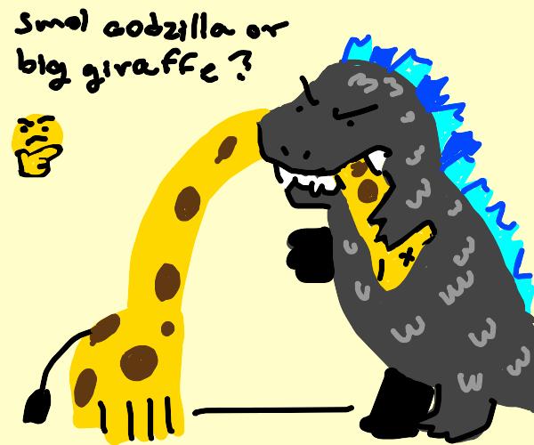 Godzilla consumes giraffe