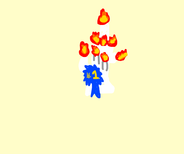First Place Candle