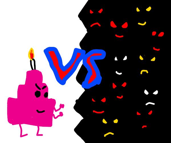 birthdaycake vs the darkside