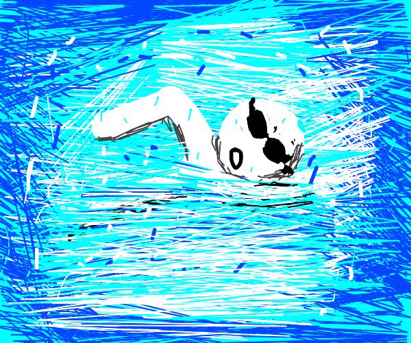 dude swimming