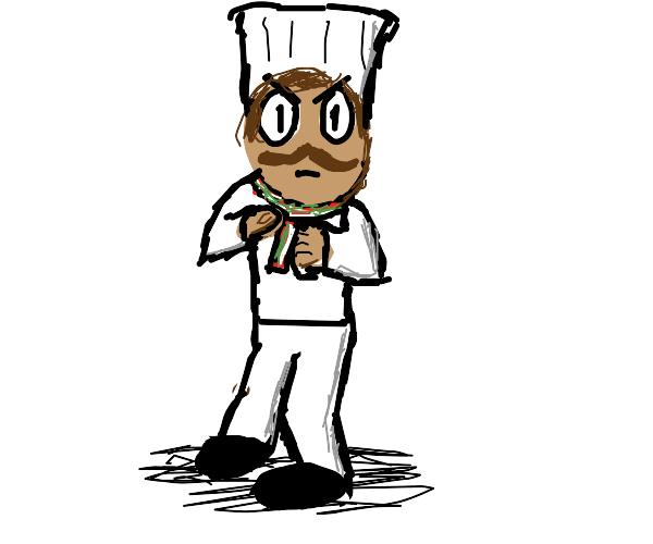 Pizza chef enters fighting stance when sees u