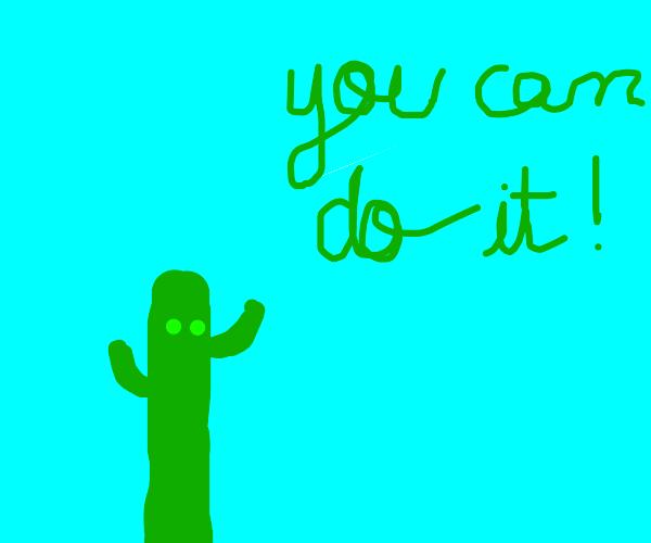 encouraging cactus