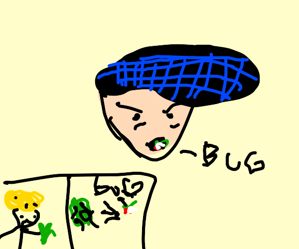 there's a bug in josuke's mouth