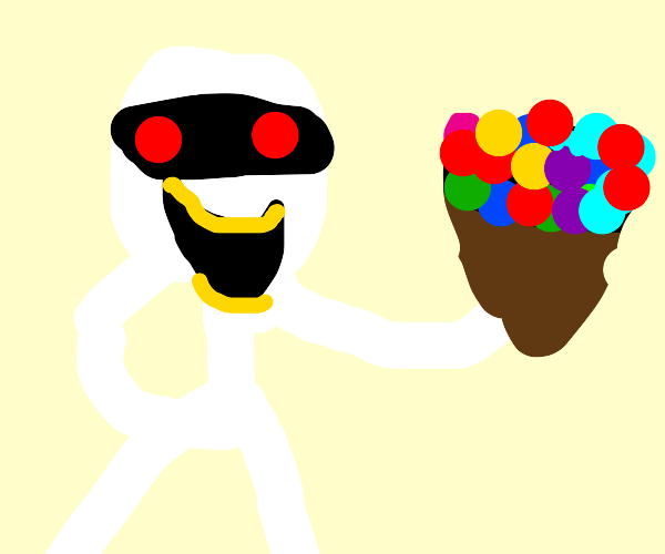 A mummy made some candies