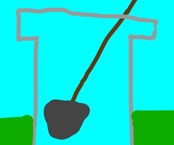 Shovel in a bucket