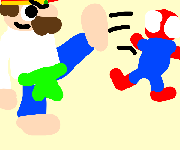 Mario be kicking and fighting you