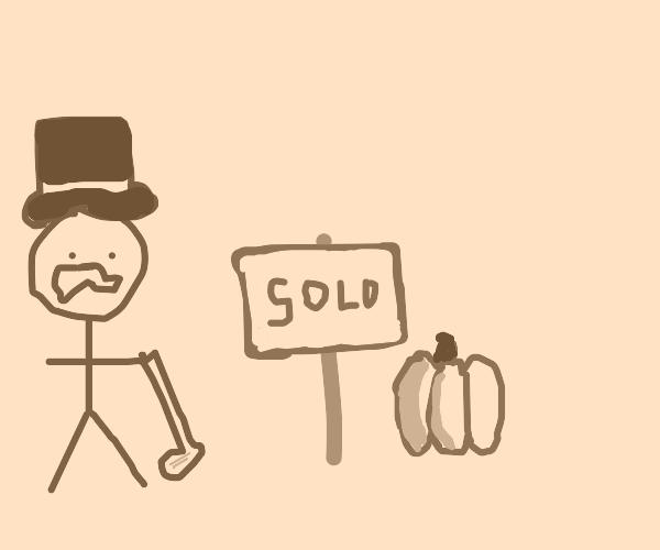 Monopoly man has sold a pumpkin
