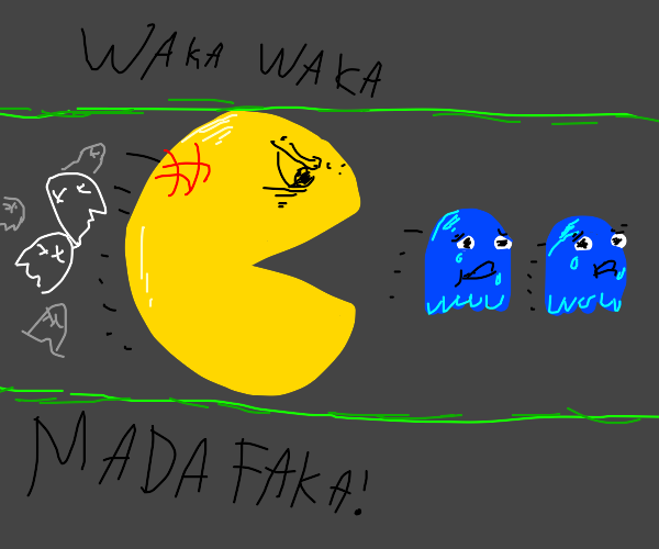 pac man, but the tables have turned